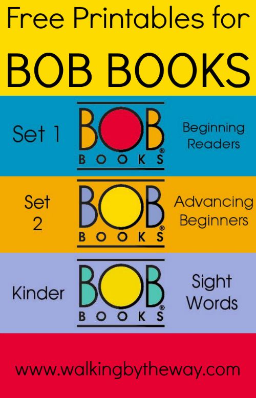 Free Printables for BOB Books from Walking by the Way