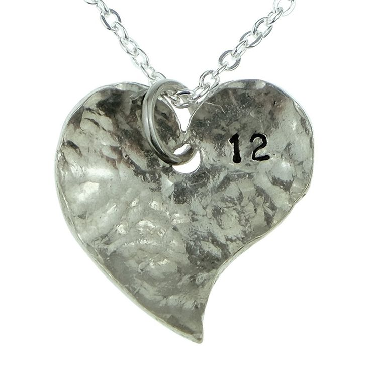 12th year anniversary heart necklace great 12th