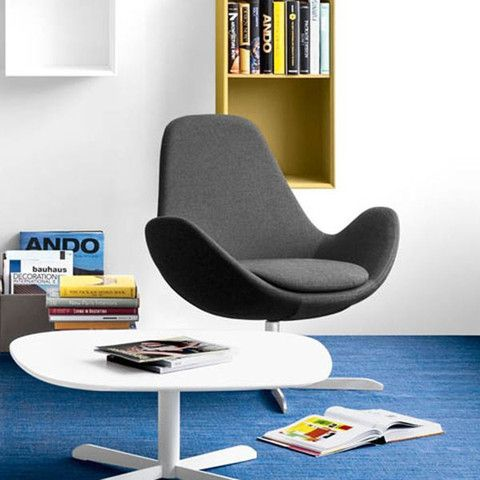 Electa is a comfortable swivel armchair, with clean and round lines, designed for relaxing while keeping everything within reach. It features a high backrest and wide seat for maximum comfort. #Calligaris #Midcenturymodern #midcenturyinteriors #dawsonandco