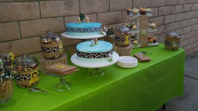 Safari jungle snack table