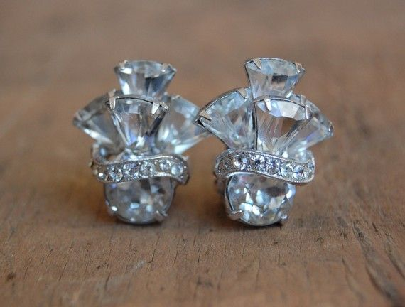 Vintage OSNABRUCK 1950s earrings $58... I WANT THEM!!!! So unique and gorgeous!!!!