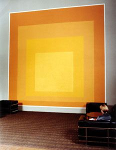 Josef Albers, Growth, 1965  Acrylic latex on concrete. 18 x 18 feet.  George Eastman Memorial Administration Building,RIT, Rochester, NY  ©2003 The Josef and Anni Albers Foundation / Artists Rights Society (ARS), New York