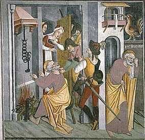 Cycle de la Passion du Christ : Reniement de saint Pierre (10/25) - Sanctuaire Notre-Dame des Fontaines, La Brigue