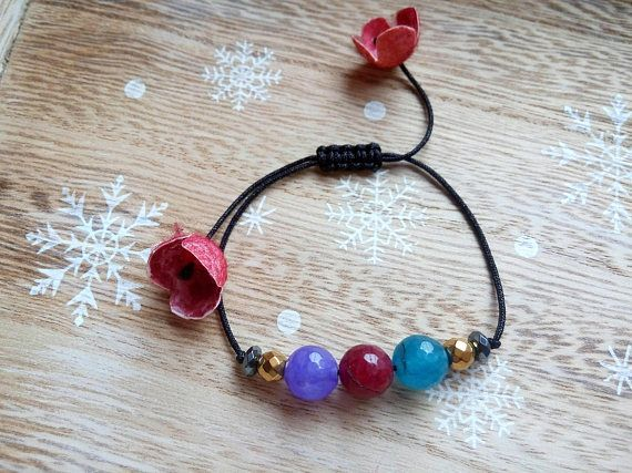 Agate Bracelet Hematite Jewelry Agate Bracelet