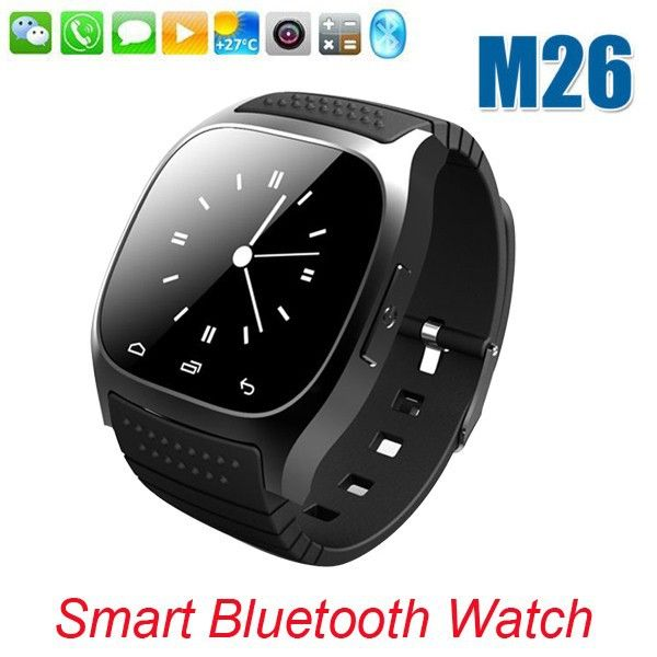 Free Shipping SmartWatch Bluetooth Smart Watch M26 with LED Display / Dial / Alarm /Pedometer for Android IOS HTC Mobile Phone