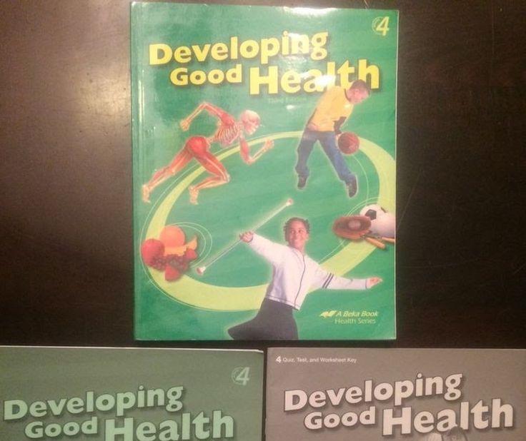 Abeka Developing Good Health 4-textbook & key and quiz test & worksheet key