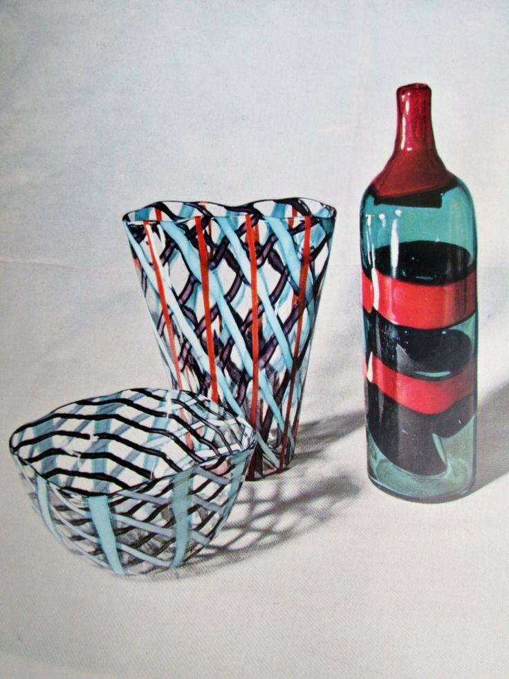 Vetri d Oggi, 1955 reference book on glass: Venini Barovier Toso Tapio Wirkkala Ponti Poli Leerdam Scarpa Gral Bianconi Kaj Franck Iittala by SCALDESIGN on Etsy
