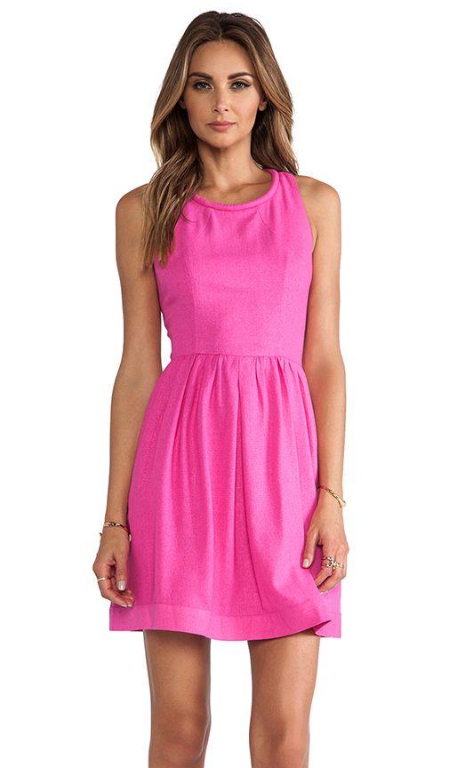 Perfect pink dress.
