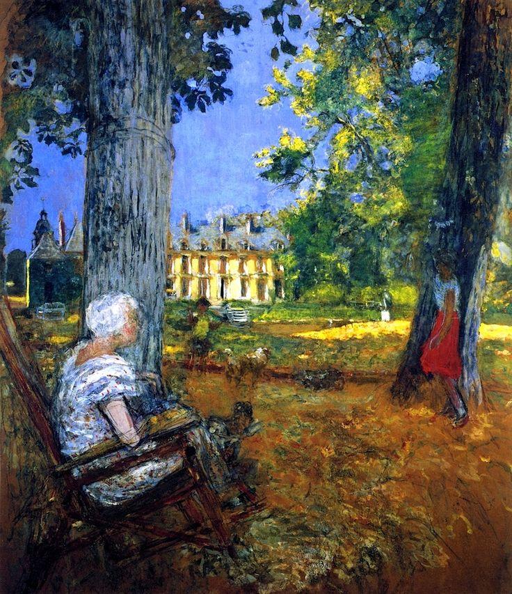 In the Park at the Château des Clayes - Edouard Vuillard - circa 1933-1938