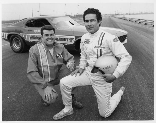 Mickey Thompson and Danny Ongais Bonneville 1968. RACER