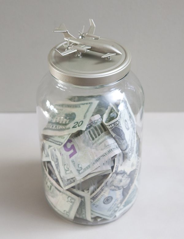 #DIY - Honeymoon Savings Jar! Where are you going? What would be on the top of yours? #somethingturquoise