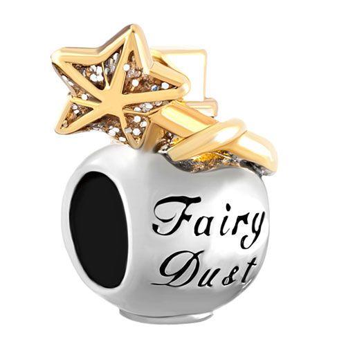 Pugster Silver/Gold Plated Crystal Flower Golden Butterfly Bead Charm Fits Pandora Charms Bracelet GtBZUM1Jfm