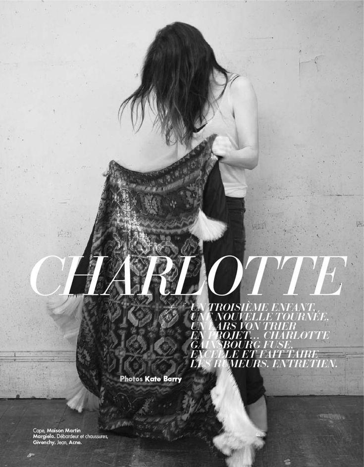 charlotte gainsbourg3 Charlotte Gainsbourg by Kate Barry for Elle France