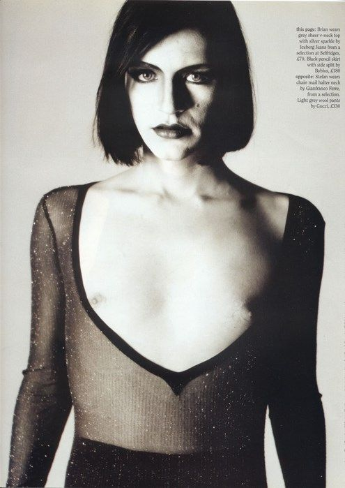 Brian Molko: the 90s' ultimate androgynous icon  With his gender-bending dress sense and penchant for black nail polish, the Placebo frontman continues to inspire – just look at the LC:M catwalks