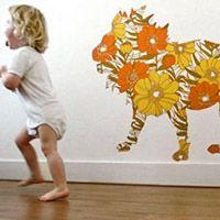 Leeuw van behangpapier voor op de kinderkamer, van Romp