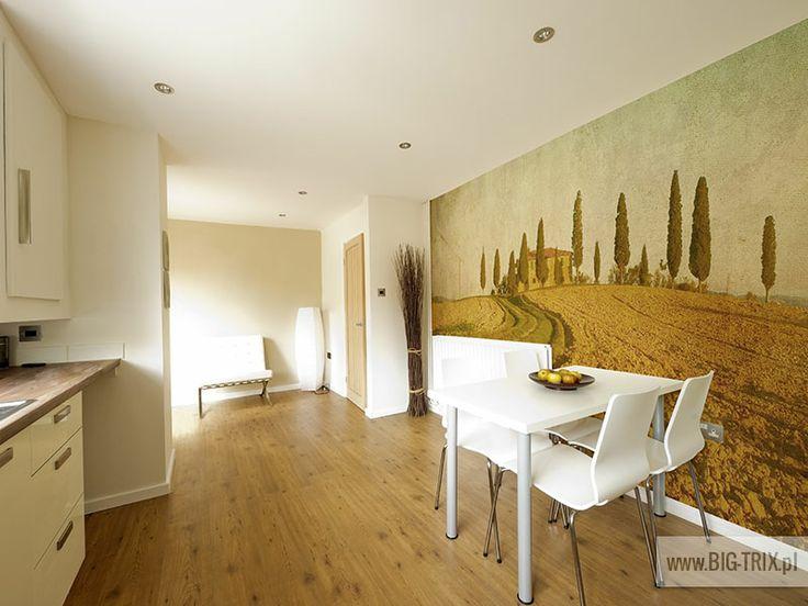 WORLD BEAUTY: Tuscany kitchen wallpaper by Big-trix.pl | #tuscany #wallpaper