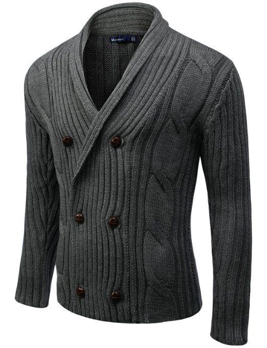 Amazon.com: Doublju Men's Knit Cardigan: Clothing  I just want everything Doublju makes.