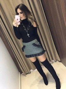 Compre Saias Feminina E Parcele Em Até 6x Sem Juros - Moda Feminina na loja Estação Store com o menor preço e ande sempre na moda.