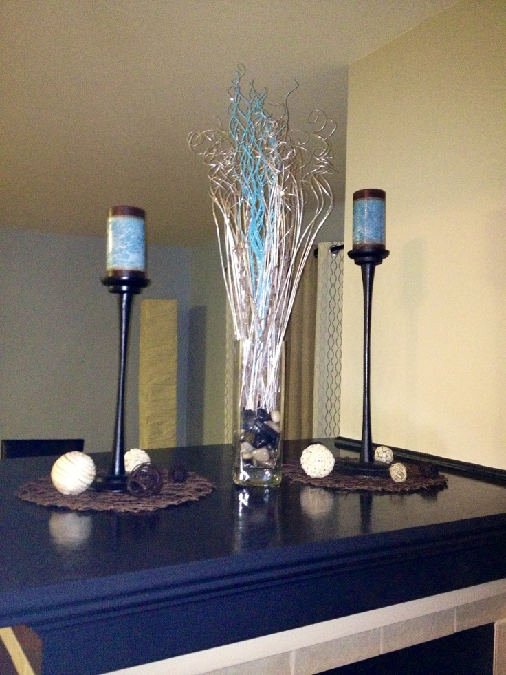 Fireplace mantle decor