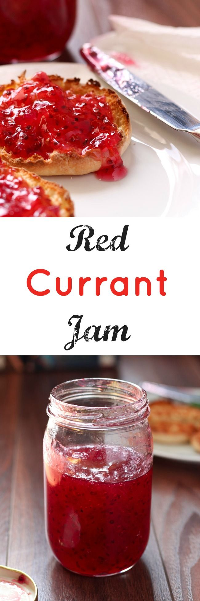 Making jam at home is surprisingly easy and makes delicious result! This recipe for red currant jam fills a 1 pint jar and you'll devour it quickly.