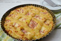 La crostata di patate è un piatto rustico molto saporito. Il classico gateau di patate presentato in maniera diversa e molto particolare.