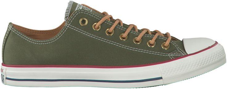 Deze leuke Converse All Stars sneakers vind je via Aldoor in de uitverkoop! #heren #mannen #mode #schoenen #sneakers #legergroen #men #fashion #shoes #army #green #sale