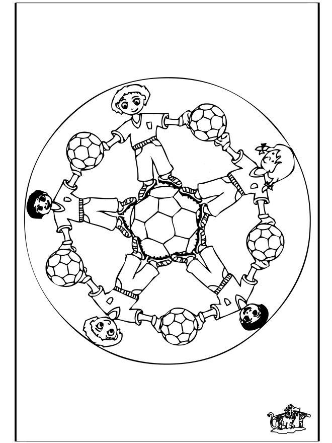 ausmalbilder mandala fußball – Ausmalbilder für kinder