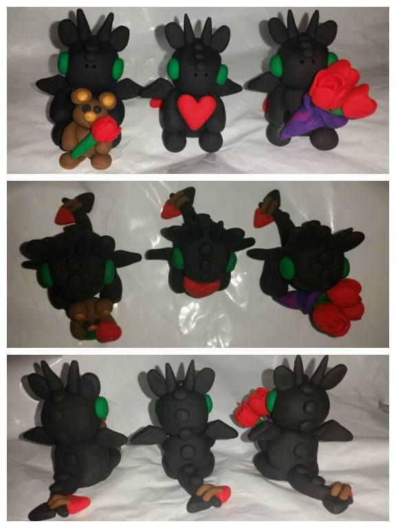 Handmade by Blobbz Baby Toothless-Inspired Valentine's Dragons!