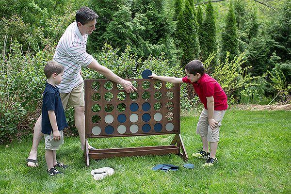 DIY Backyard Game: Four-in-a-Row