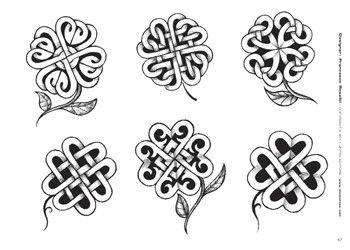 celtic flowers or four leaf clovers
