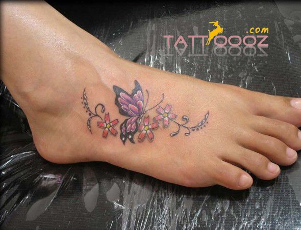 Butterfly Tattoos on Foot