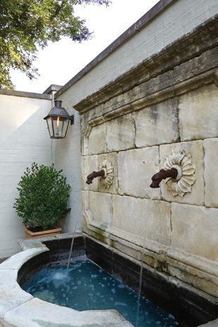 Co Cou0027s Collection : Formal Garden # Structure # Roses # Boxwood Roman  Styled Fountain Creates Tranquility