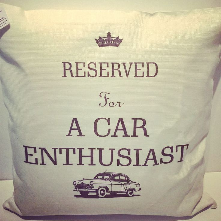 Reserved for a car enthusiast - Linen Cushion - petrol head, classic, vintage, gifts for him, father's day, birthday, Christmas, male gifts by ImprintProducts on Etsy