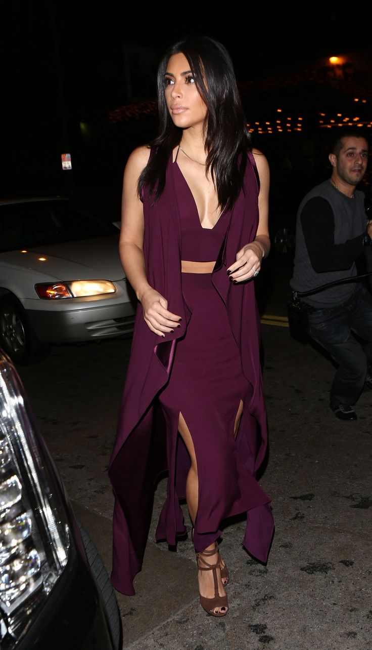 """December 1st- Kim arriving at The Abbey in West Hollywood """