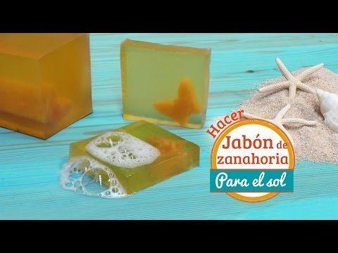 Cómo hacer jabón de zanahoria para el sol: Remedio casero para ayudar a curar las quemaduras solares - YouTube