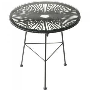 Cdiscount - Table basse ronde Iris noire Couleur Noir Matiè…