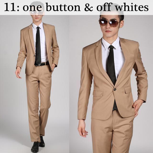 Cool  Jacket Pant Tie New Arrival Men Suit Sets Slim Fit Tuxedo Formal