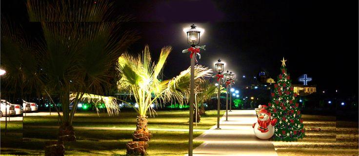 Photo: Night of Sarti, Halkidiki, Greece, Nikon Coolpix L310, panorama mode, HDR-art fantasy, photography 2014