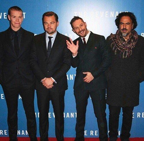 Will Poulter, Leonardo DiCaprio, Tom Hardy, Alejandro Gonzalez Iñarritu