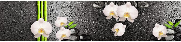 """""""GLASS""""Обмен файлами.: Панорама орхидеи, камни и капли воды ."""