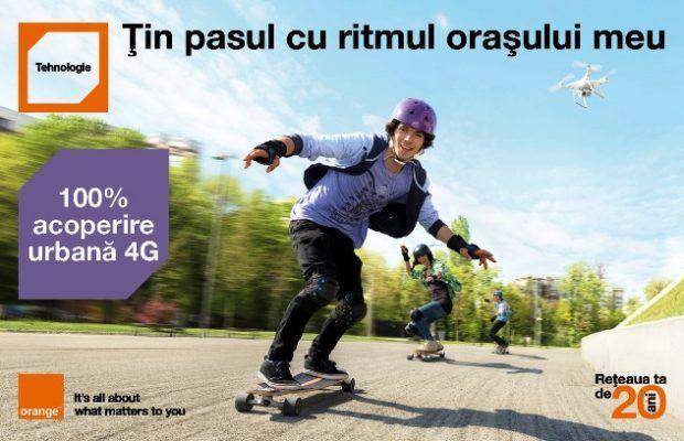 Orange ofera acum acoperire 4G in zona urbana de 100% in Romania