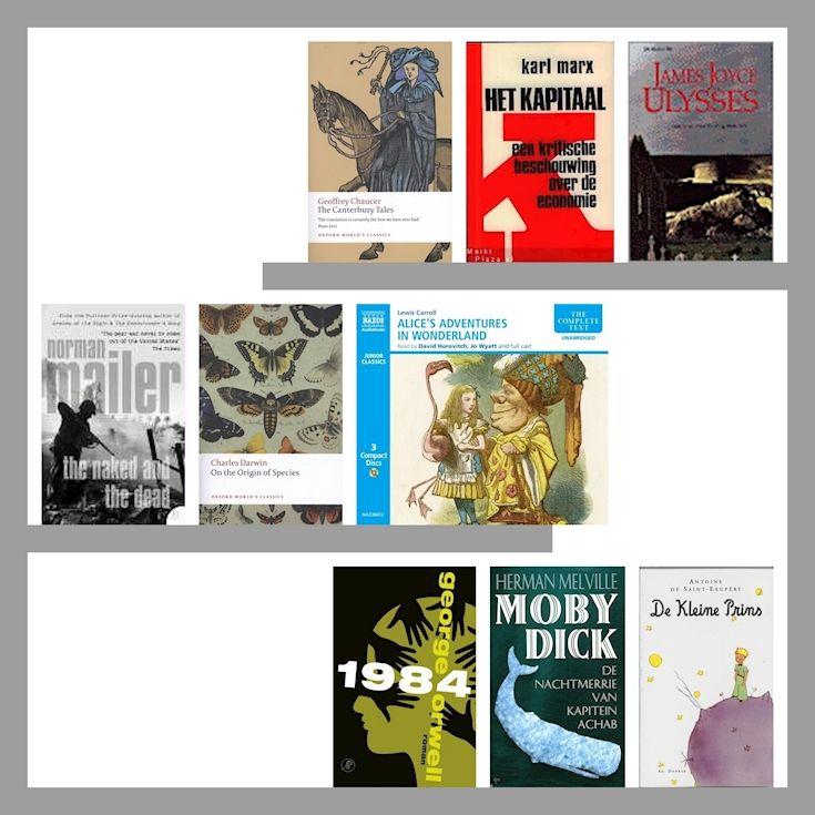 Verbannen Boeken. Zo maar een greep uit 70.000 verbannen boeken. Check  http://u-in-u.com/documenta/2017/parthenon-of-books voor dit bijzondere kuntsproject. Je kunt zelf ook een boek doneren. Ga dan naar: https://blogs.ubc.ca/documenta/ #klassiekers