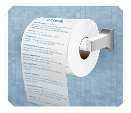 your twitter feed printed on your toilet paper!