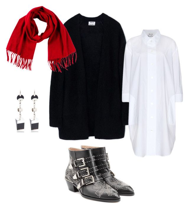 White shirt dress by kirsti-salonen on Polyvore featuring polyvore, fashion, style, Acne Studios, Chloé, Isabel Marant, Loro Piana and clothing