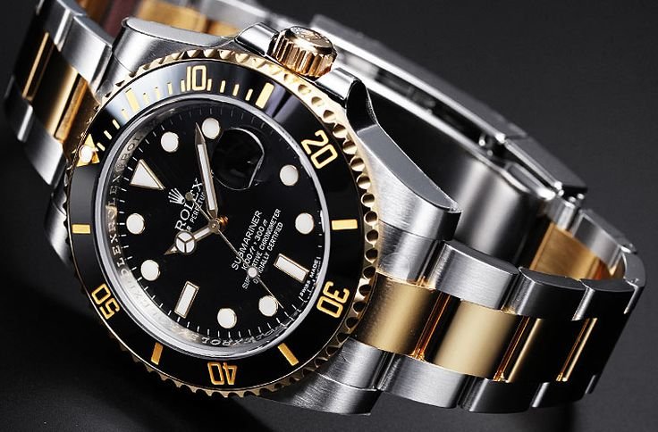 Gold Rolex with Diamonds | The history of the Rolex Submariner is legend in Rolex watches. But ...