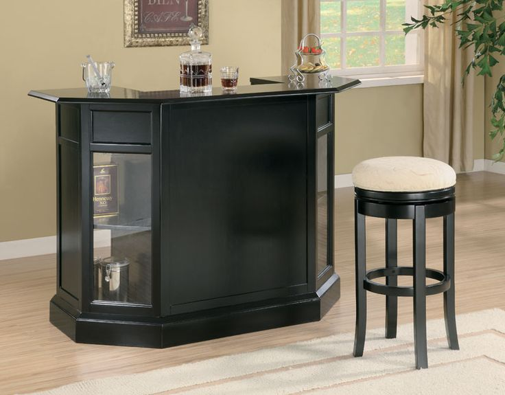 contemporary bar furniture for the home. Anavia Modern Black Home Bar Counter Contemporary Furniture For The