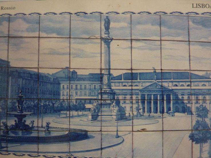 Rossio, Lisbon - postcard