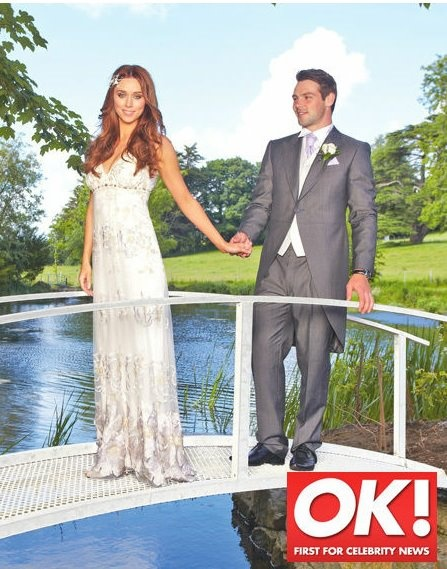 Real Bride Una Healy wearing the 'Luna'  wedding gown by Claire Pettibone