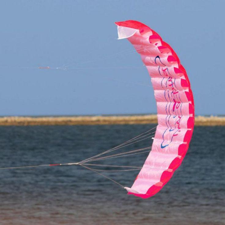 New Outdoor Fun Sports Power Dual Line Stunt Parafoil Parachute Rainbow Sports Beach Kite For Beginner