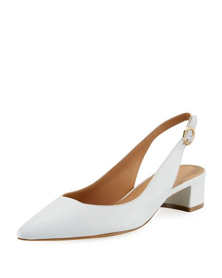 dc9bd8c1993 Low-Heel Lamb Leather Slingback Pump in 2019 | In The Future | Low ...